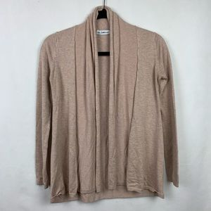 Zara Knit Open Front Cardigan Tan Size Small
